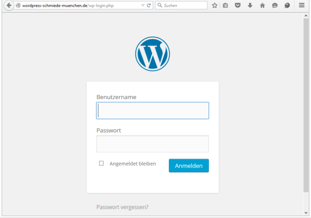 WordPress Login mit wp-login.php