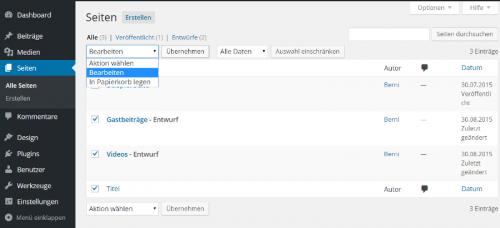 WordPress Seiten gemeinsam bearbeiten