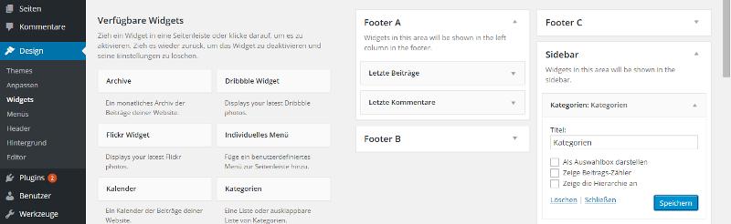 WordPress Sidebar anpassen