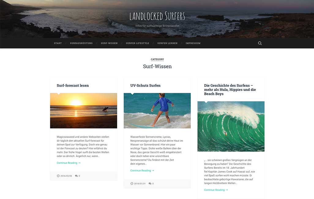 Landlocked Surfers Kategorie-Seite