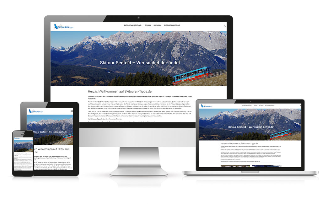 Skitouren Tipps WordPress-Blog