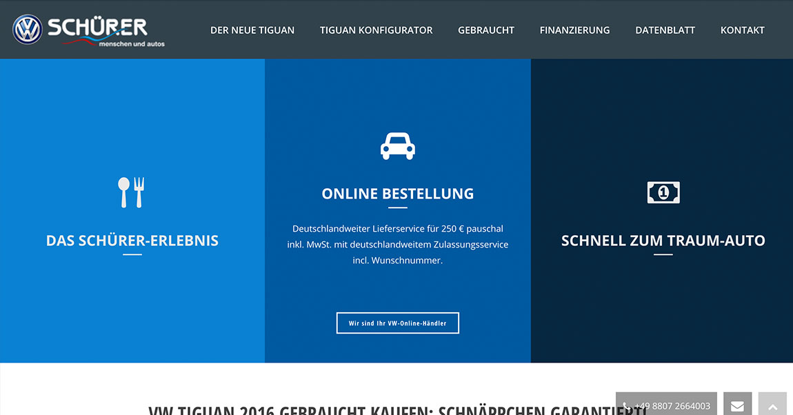 Autohaus Schürer WordPress SEO