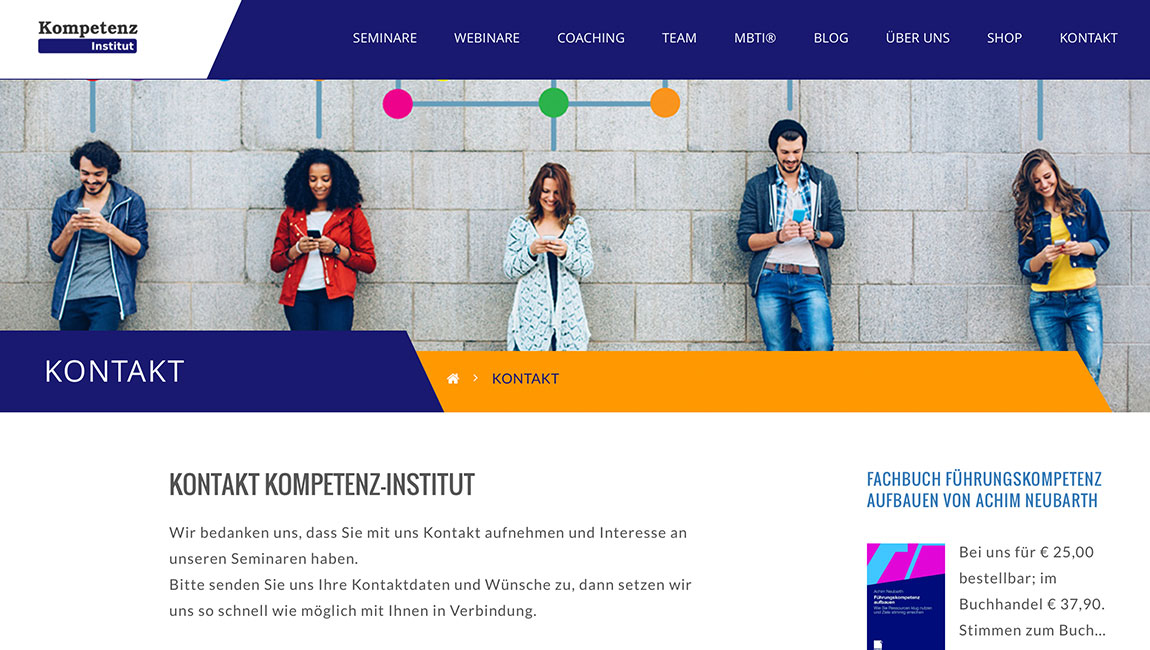 Kompetenz Institut WordPress Webseite