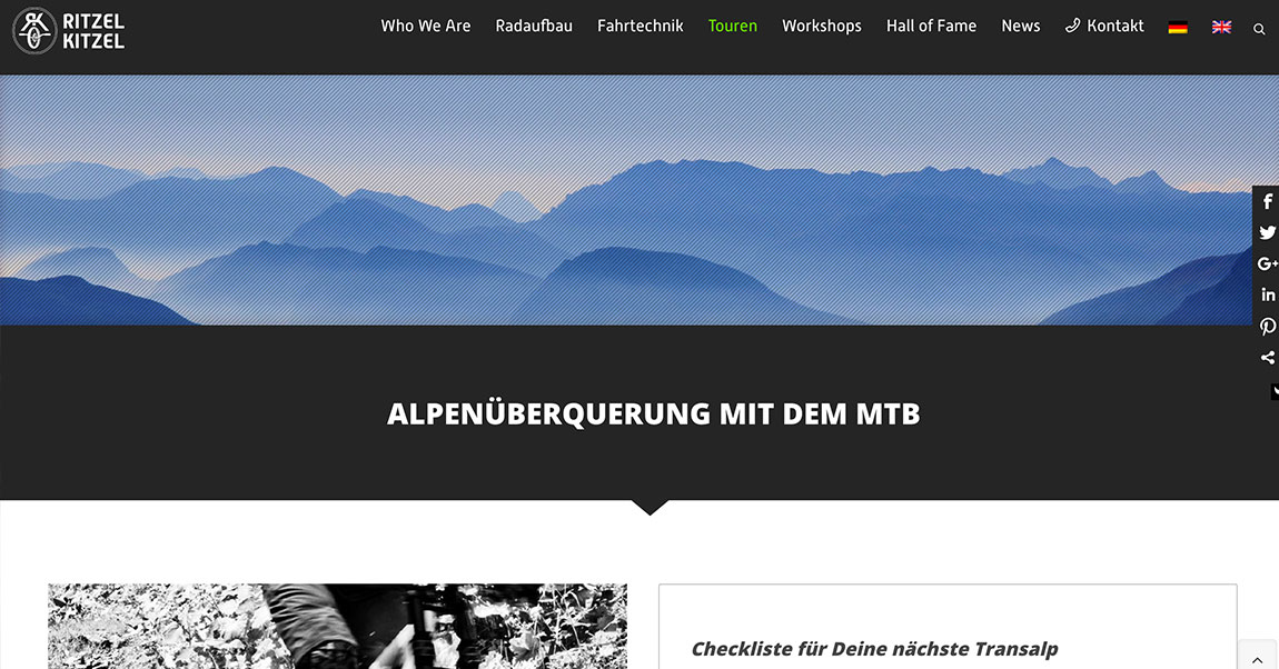 Ritzel Kitzel WordPress Parallax