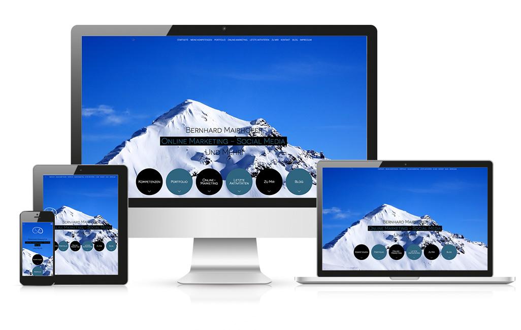 Erstellung einer WordPress Homepage für Bernhard Mairhofer