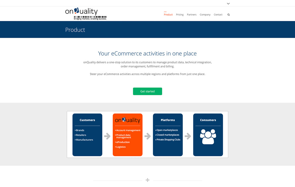 Onquality WordPress Homepage