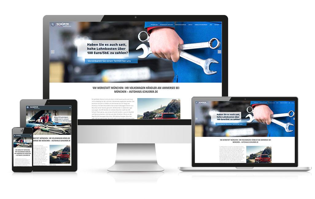 VW München Webseite mit WordPress erstellen