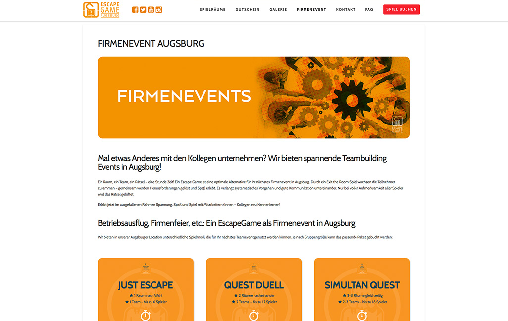 WordPress Firmenevents erstellen