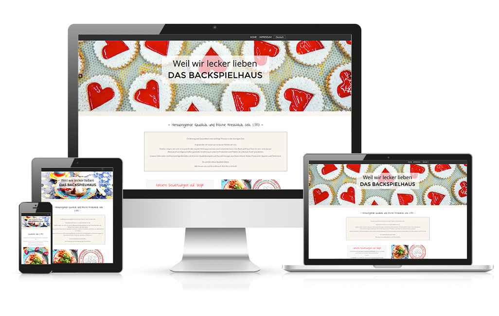 WordPress Webseite Backspielhaus