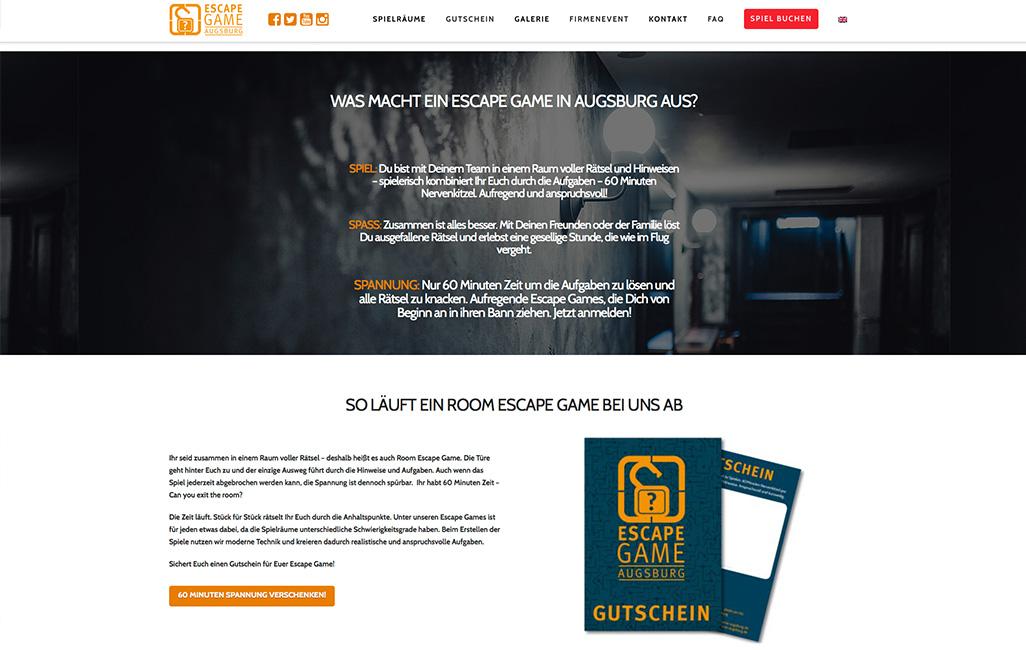WordPress Webseite erstellen Escapegame