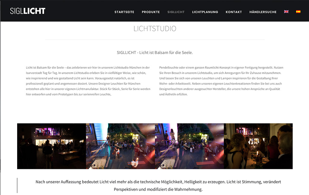 Relaunch der Sigllicht Website auf WordPress Basis