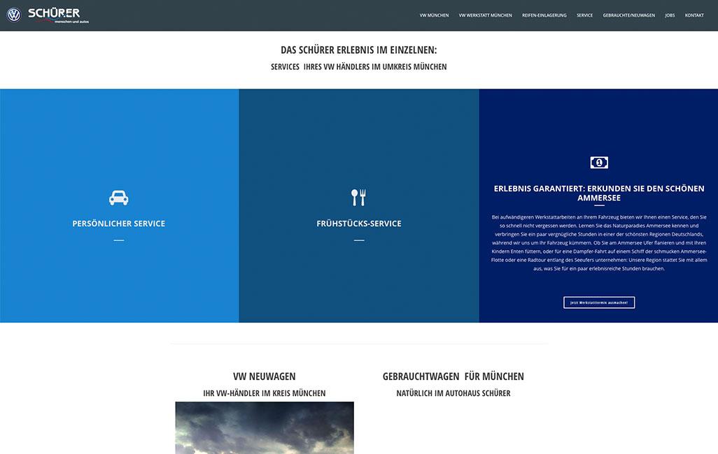 Onepager mit Wordpress erstellen - hier am Beispiel VW München