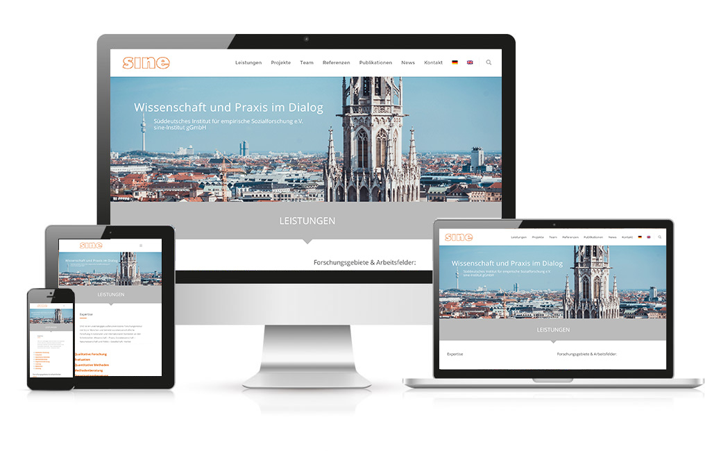 Relaunch der WordPress Website des Sine Instituts