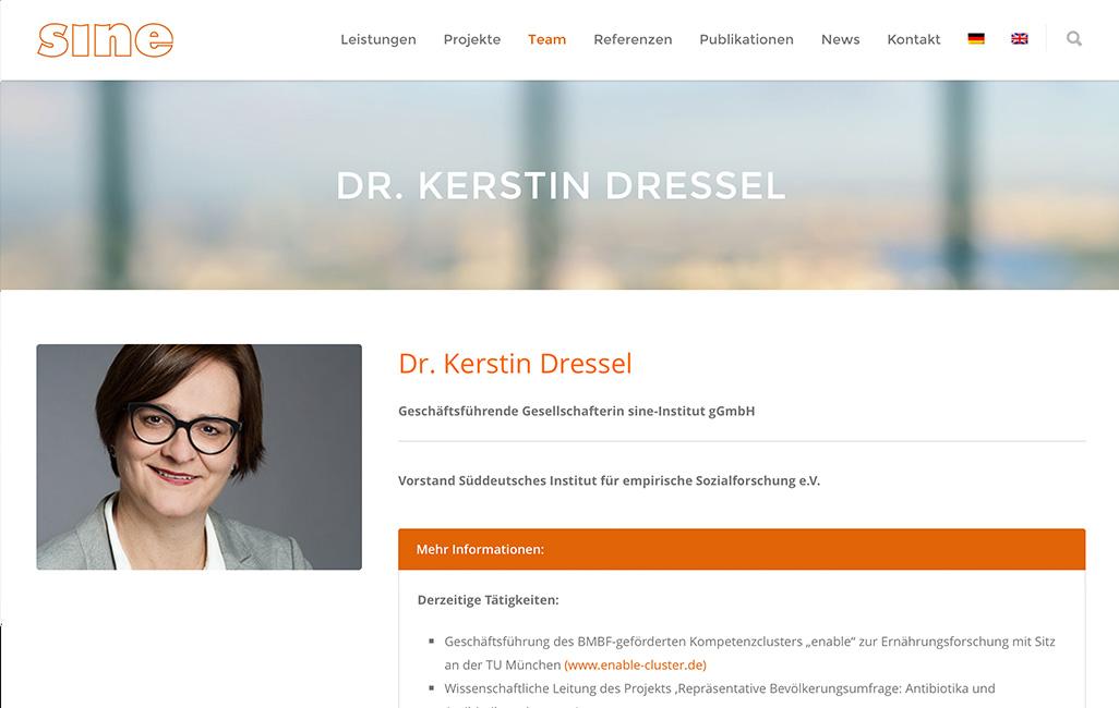 Sine Institut SEO Optimierung der WordPress Webseite