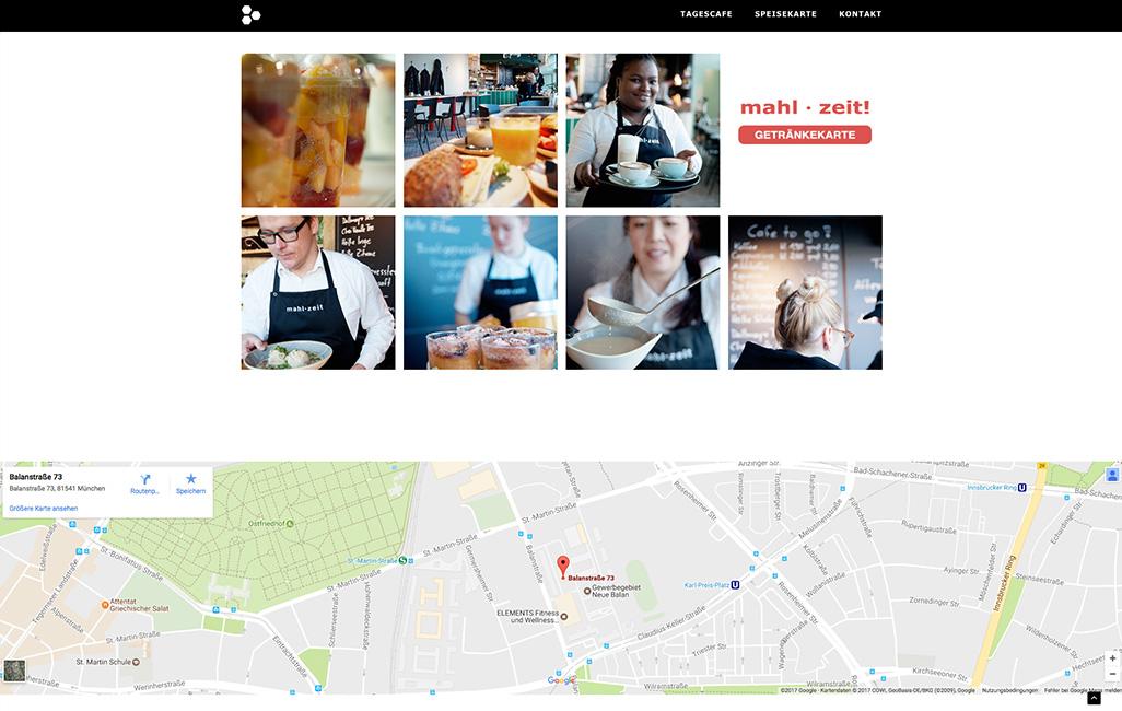 Onepager WordPress erstellen Balan Deli