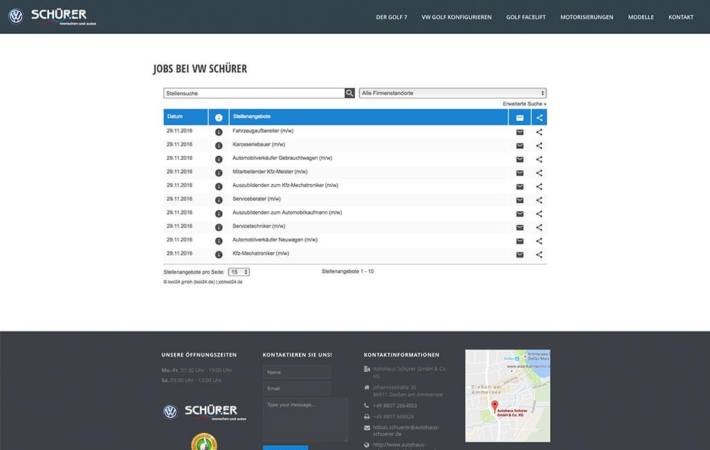 VW WordPress Webseite