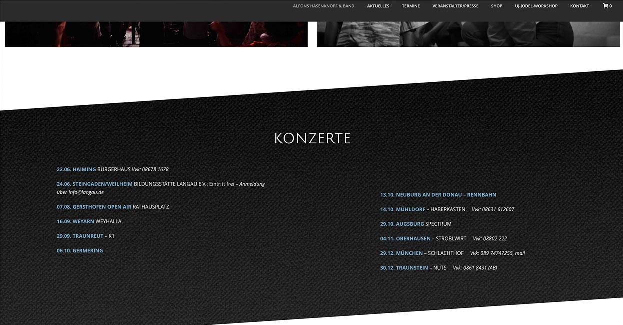 Alfons Hasenknopf WordPress Webseiten Optimierung