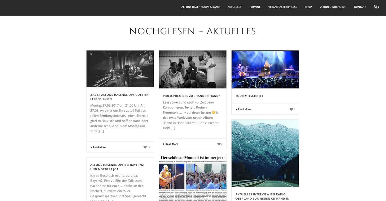 WordPress Webseitenerstellung für Alfons Hasenknopf