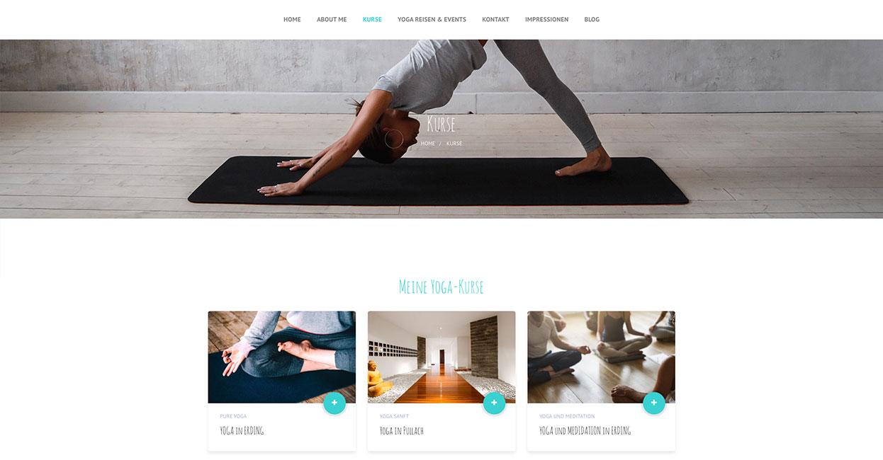 Suchmaschinenoptimierung der WordPress Webseite für ein Yogastudio in München