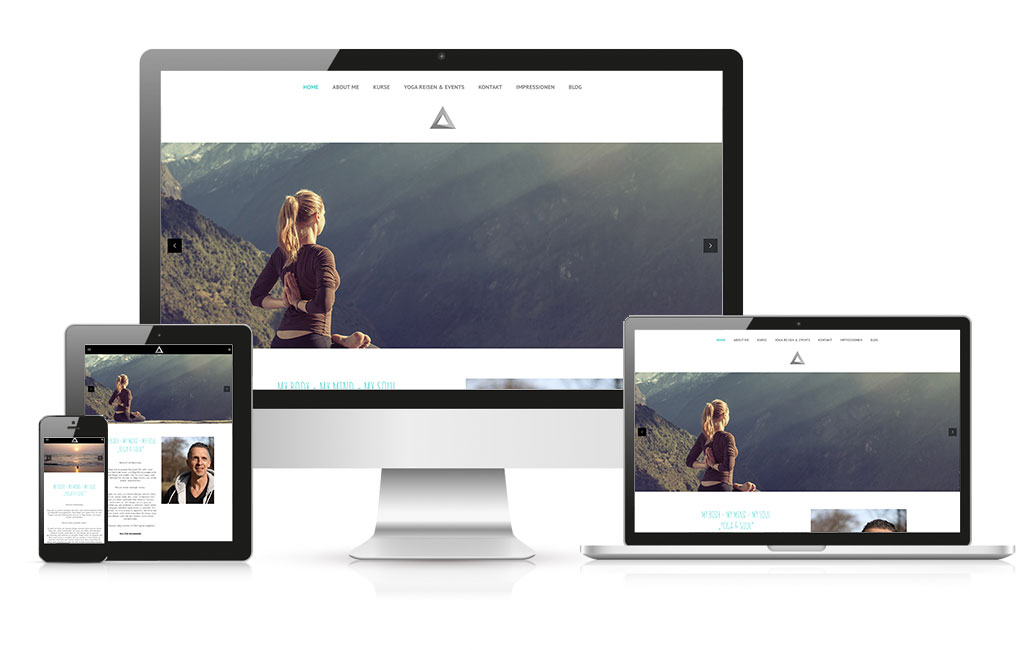 WordPress Webseite Yogastudio