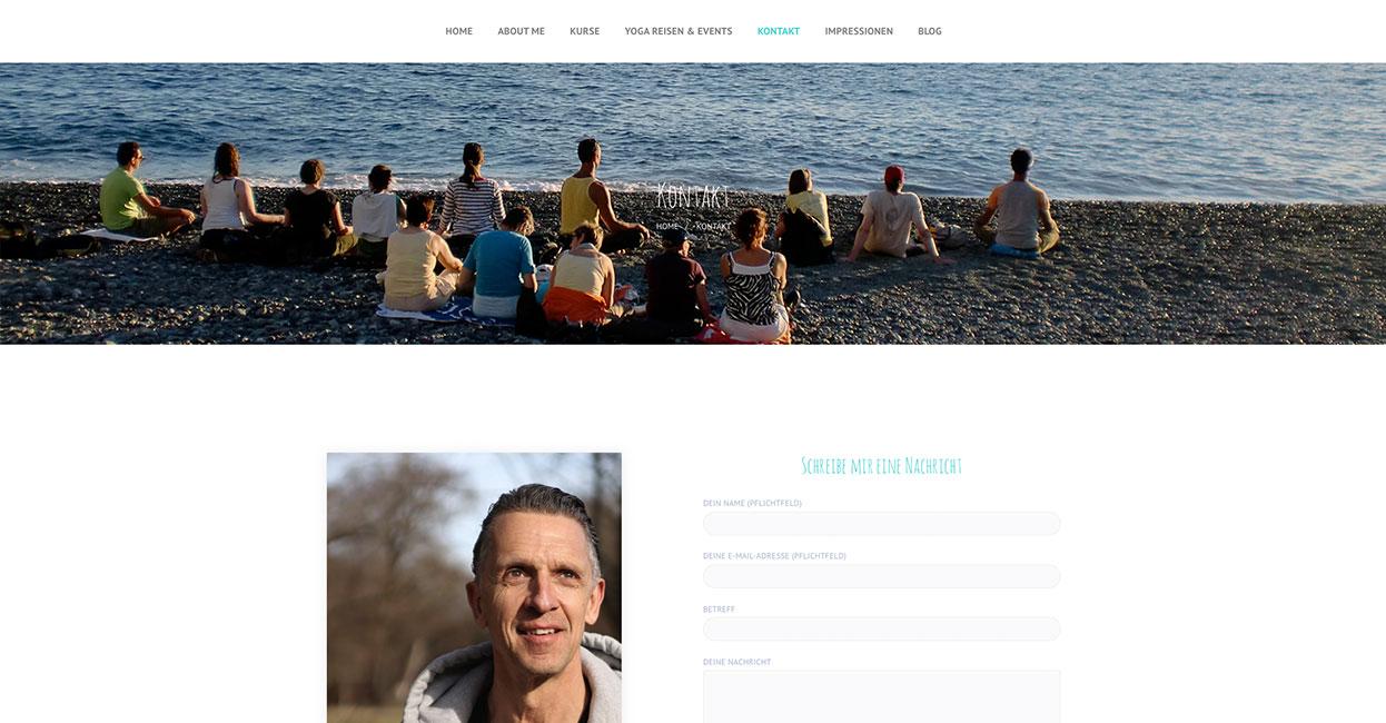 Yoga Studio WordPress Webseite - schnell und professionell