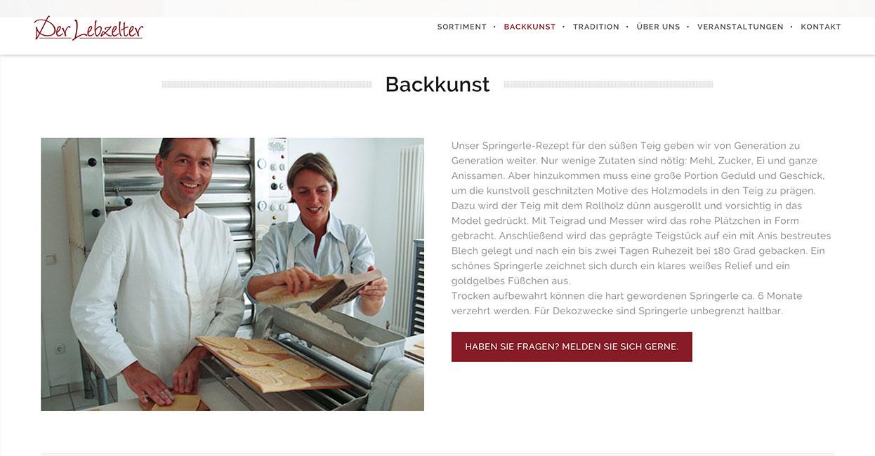 Lebzelter WordPress Webseite