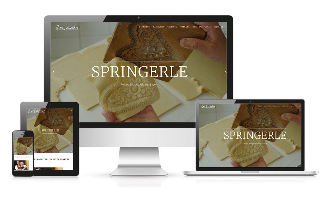 Springerle Firmenwebseite WordPress