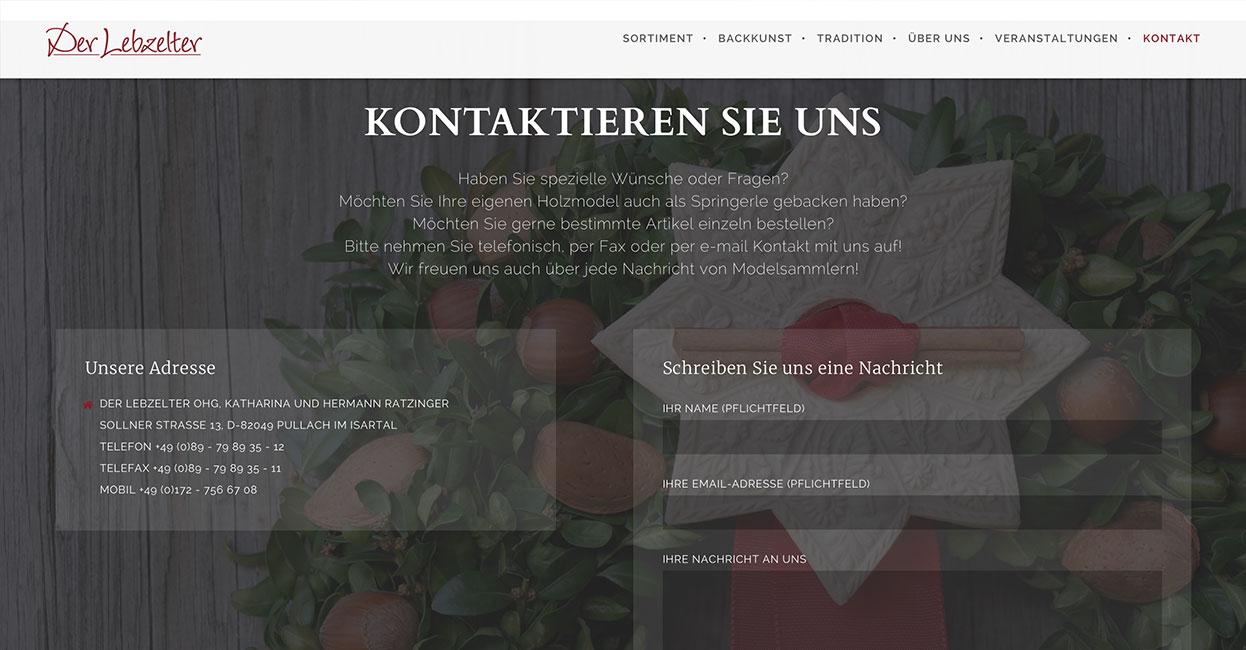 WordPress Website Springerle