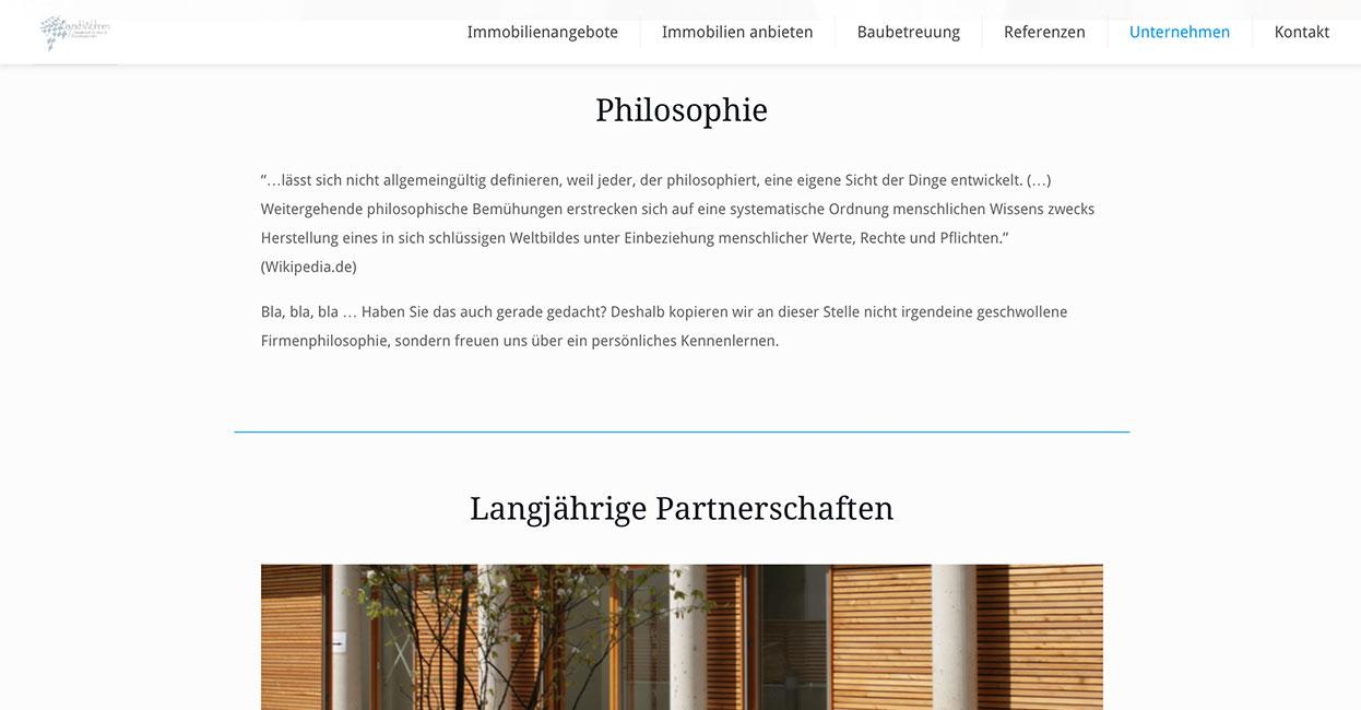 WordPress Seitengestaltung