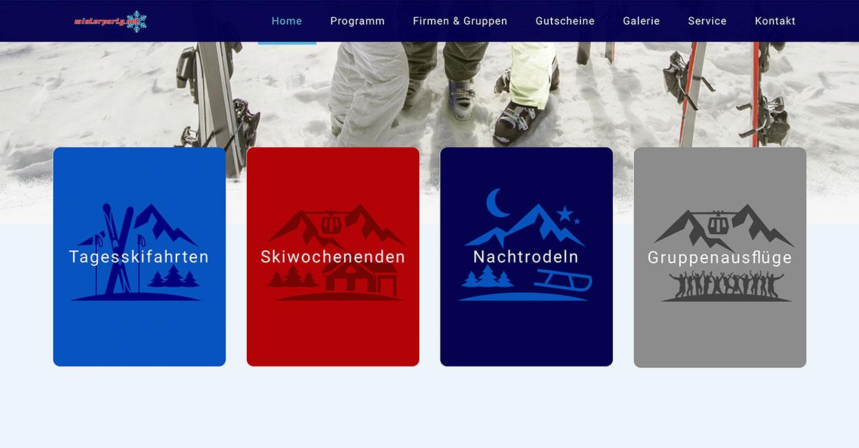 WordPress Webseite erstellen Winterparty