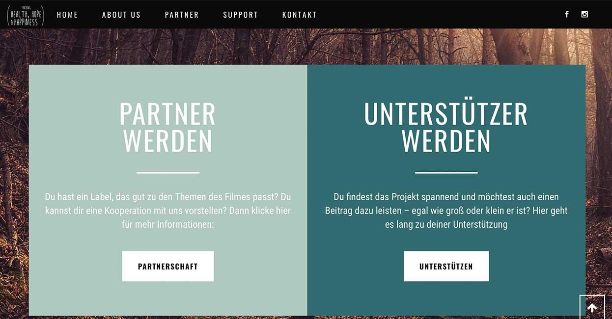 Wordpress Webseite Unterstützer