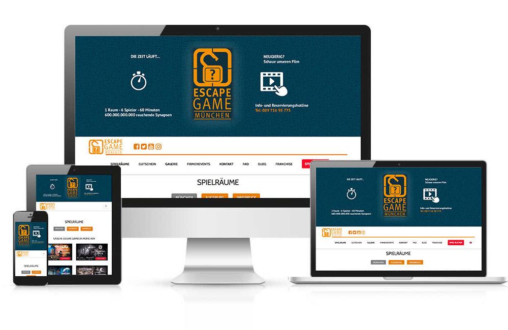 WordPress Homepage mit Buchungstool: EscapeGame München