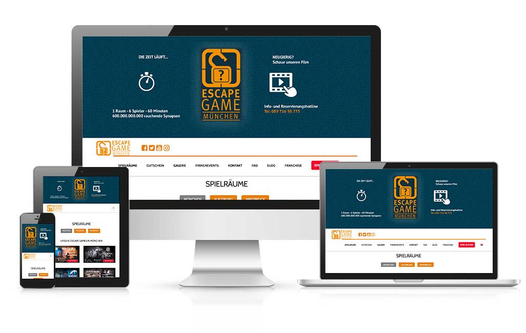 escapegame München wordpress webseite