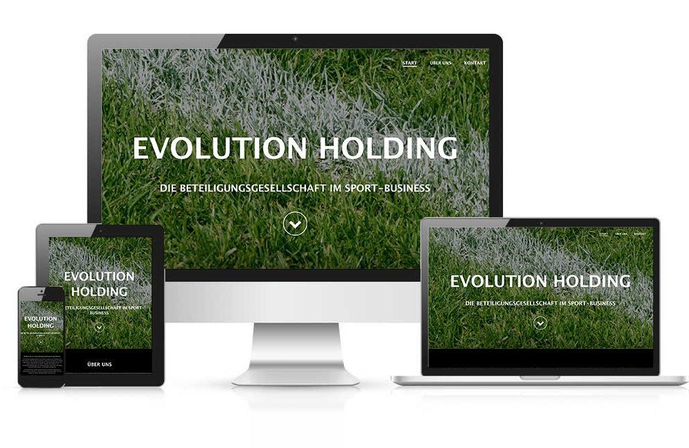 WordPress Online-Visitenkarte evolution-holding