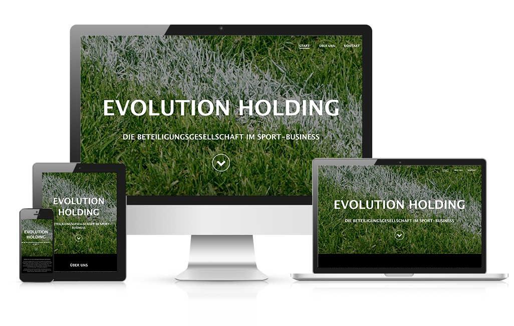 Online Visitenkarte evolution holding