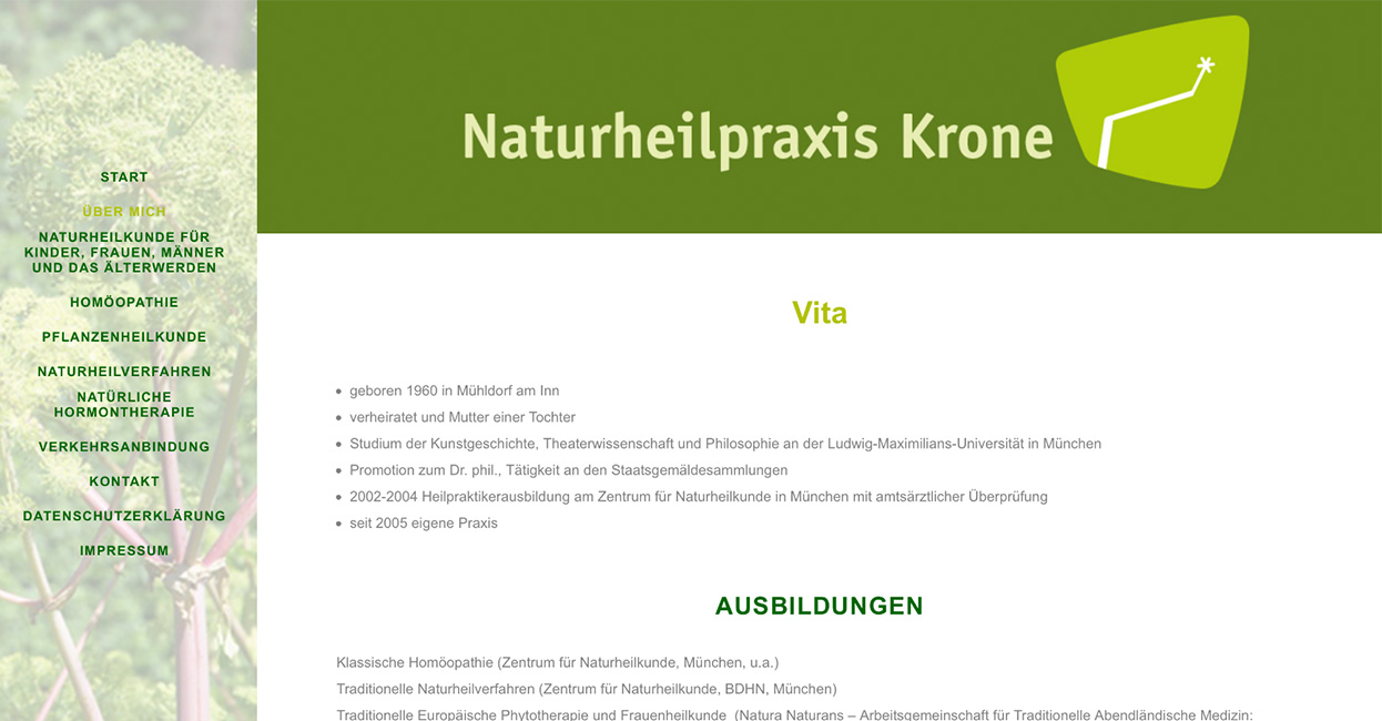 Naturheilpraxis WordPress Webseite