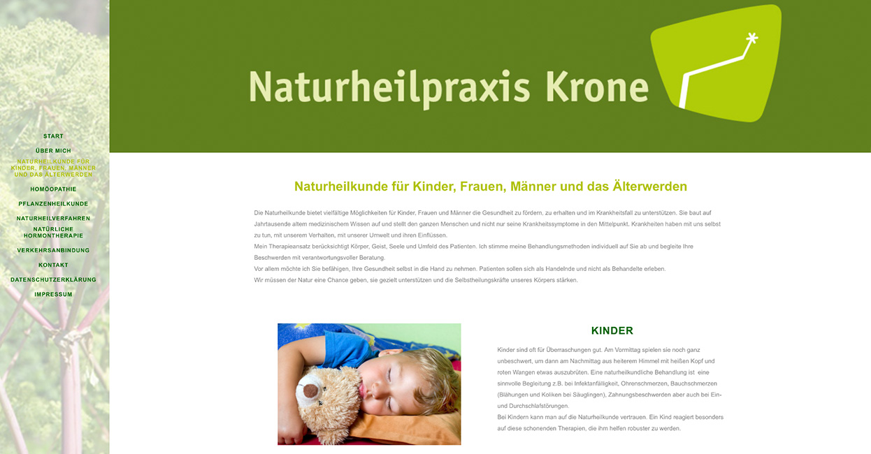WordPress Webseite Naturheilkunde