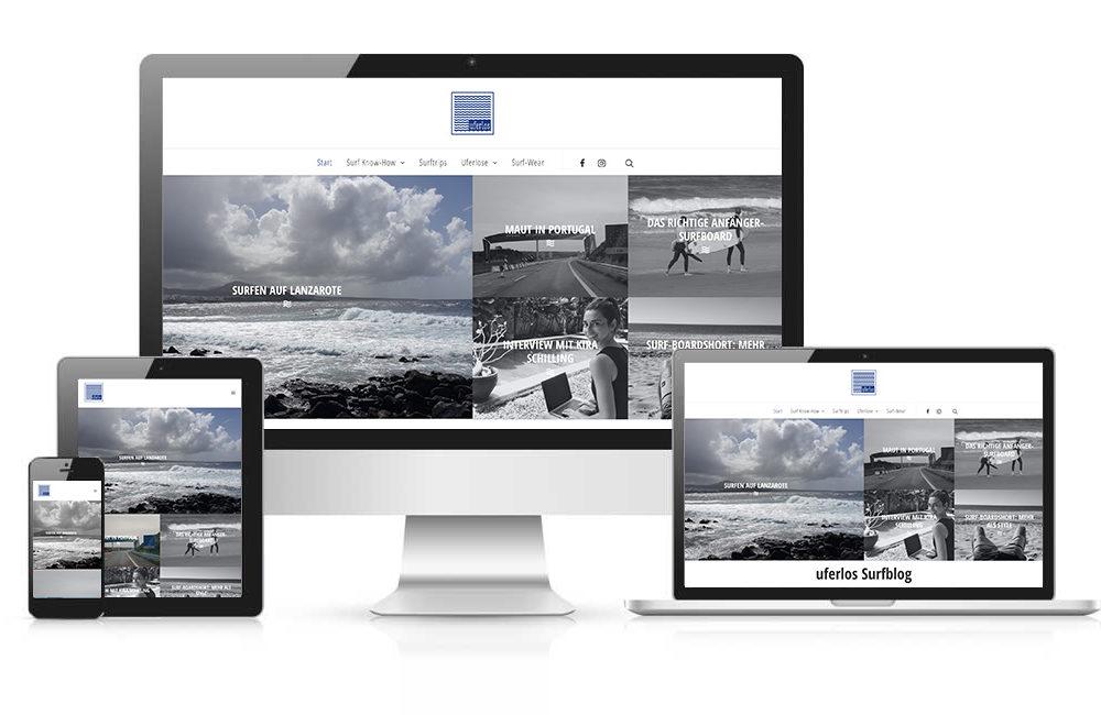 Surf-Blog Uferlos Relaunch