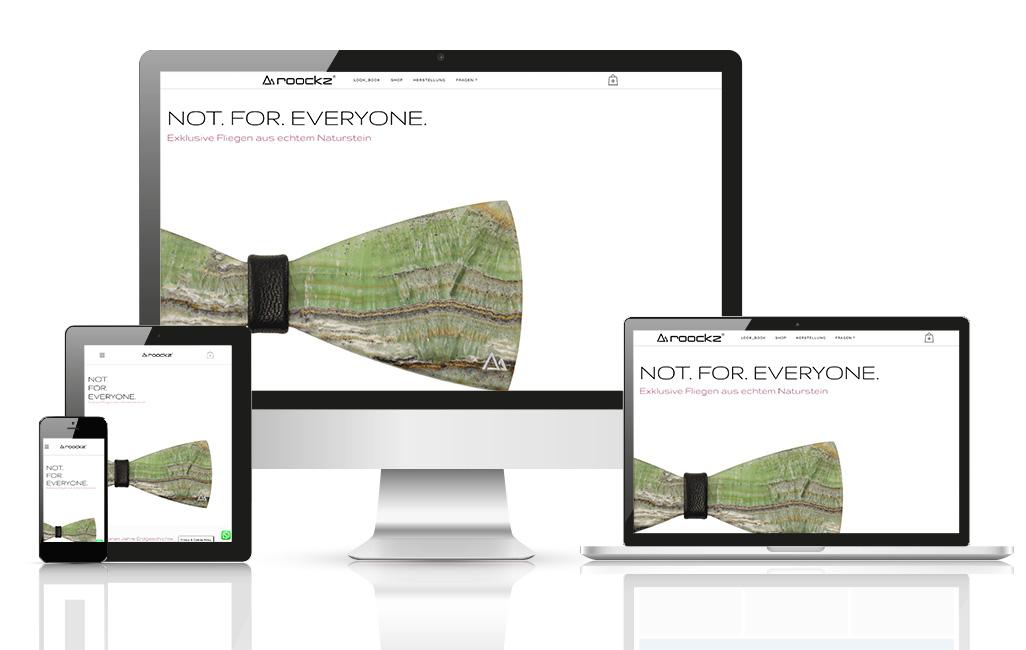 Steinfliegen WordPress Webseite
