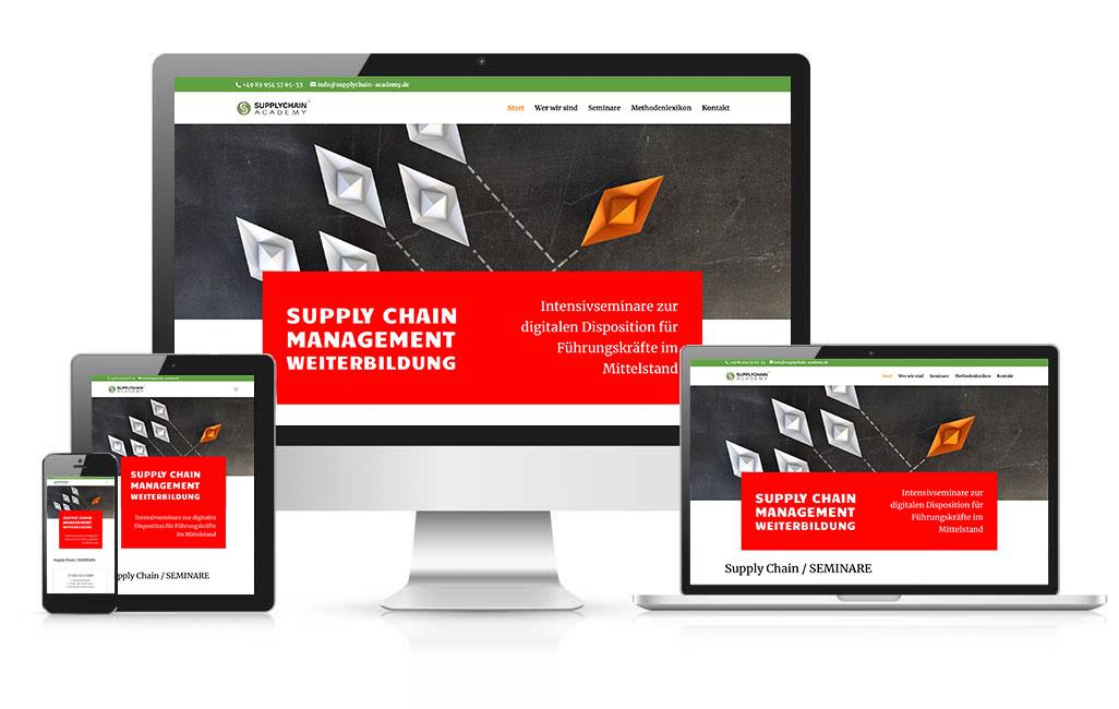 Supply Chain Academy WordPress Webseite