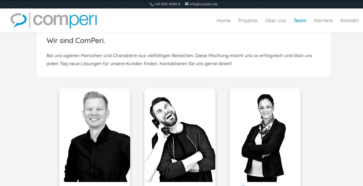 Comperi Teamseite WordPress