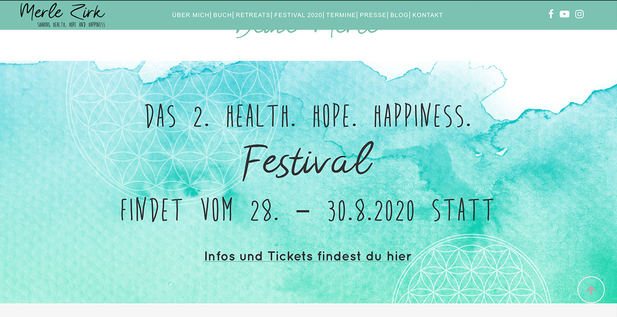 Health Hope Happiness Festival Gestaltung