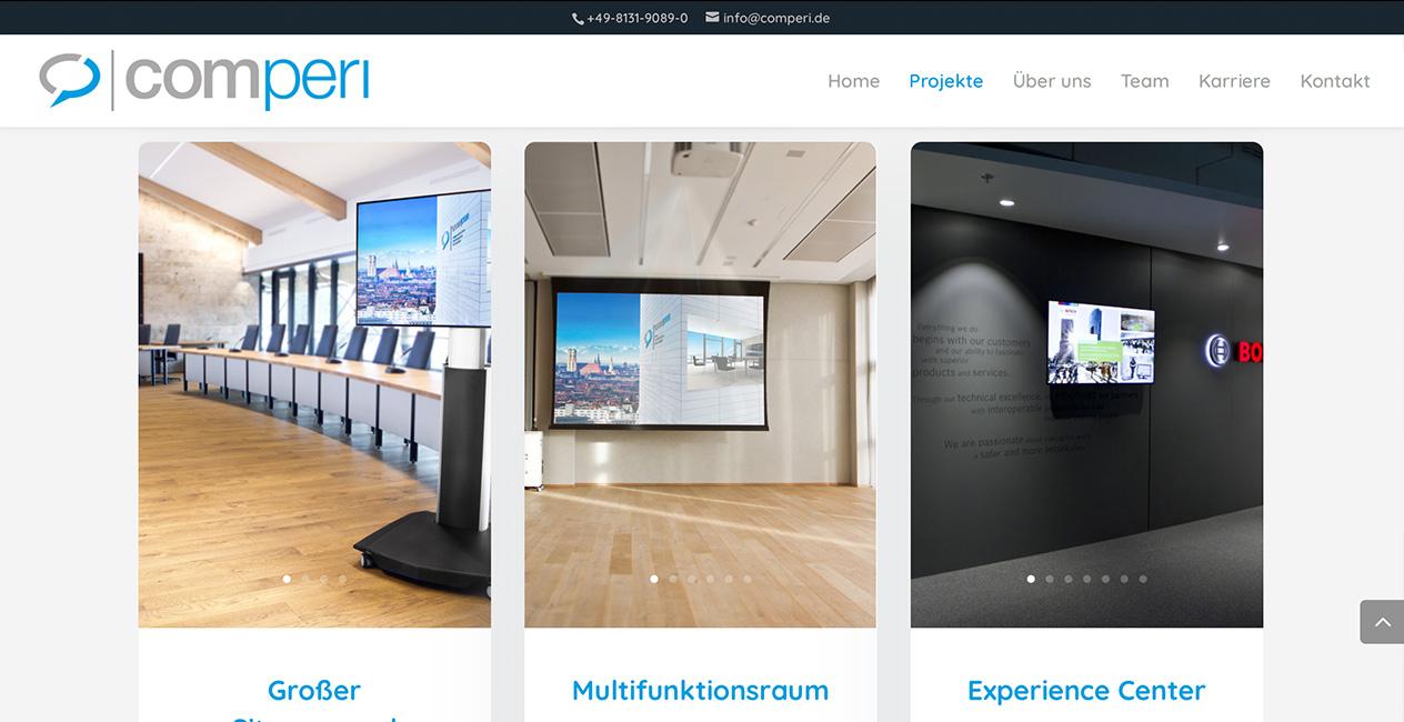 Medientechnik Webseite WordPress