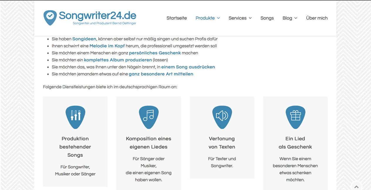 Songwriter-24 München Webseite