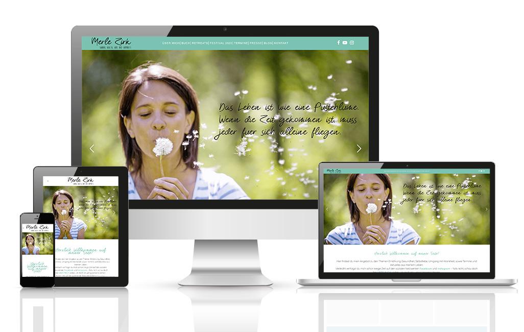Merle Zirk WordPress Webseite