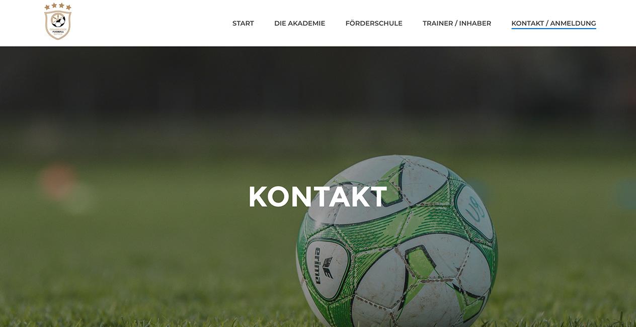 WordPress Webseite Fussball Muenchen