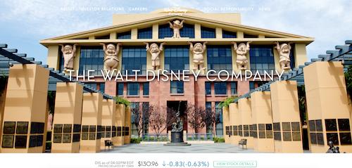 Beispiel WordPress Webseite Walt Disney