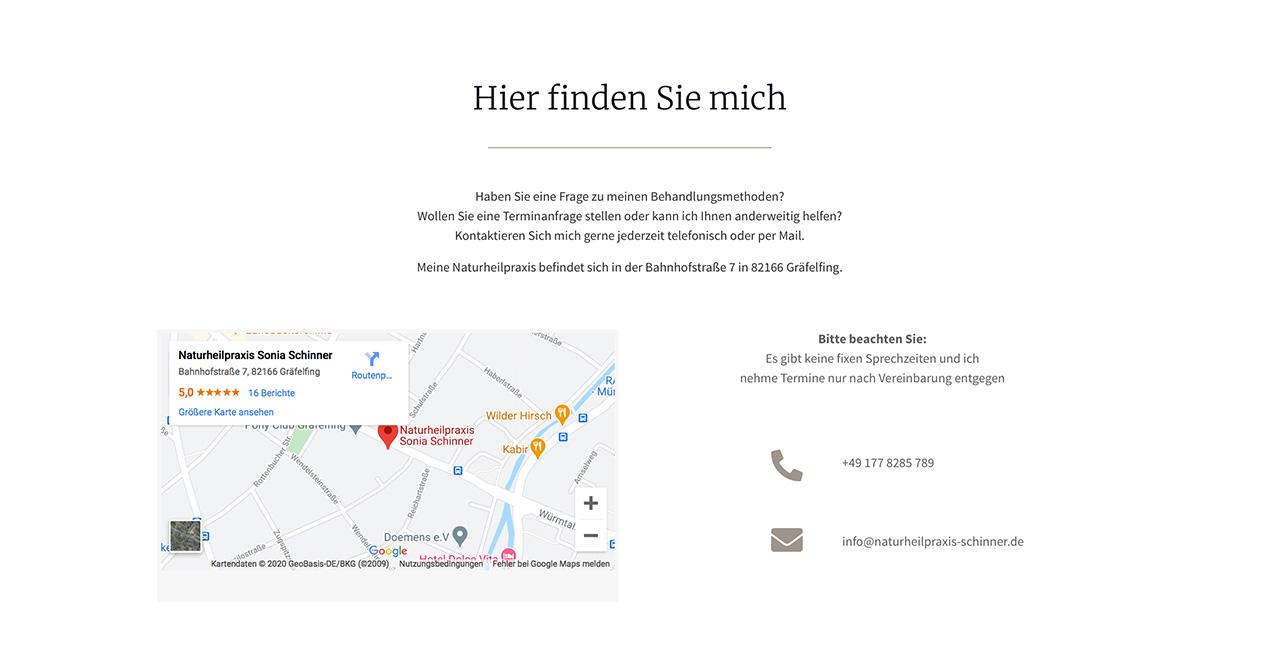 WordPress Heilpraktikerseite München